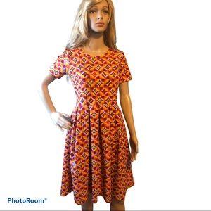 LULAROE Amelia geometric design dress. Size M